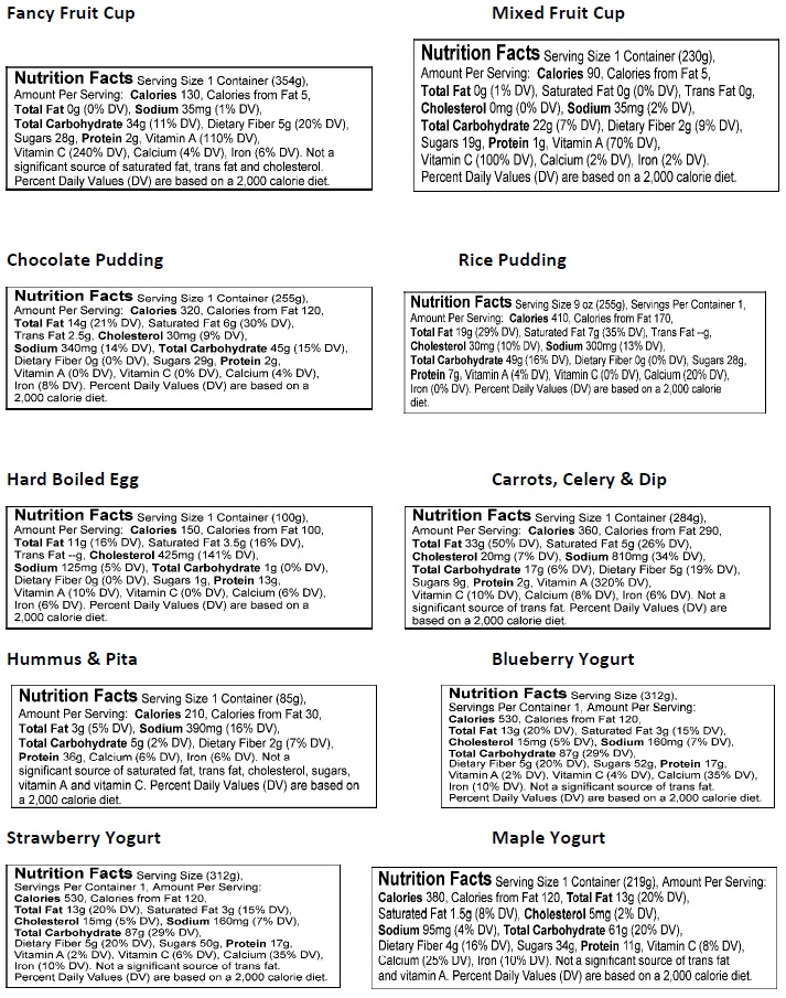 cups menu
